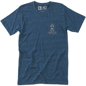 Hippy Tree Lantern T-shirt Heren, heather navy